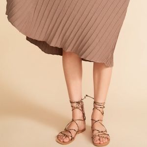 Zara Gladiator Lace Up Snake Print Sandals